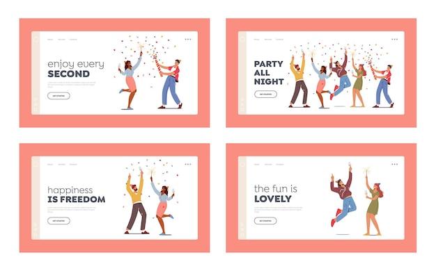 Набор шаблонов целевой страницы праздничного мероприятия