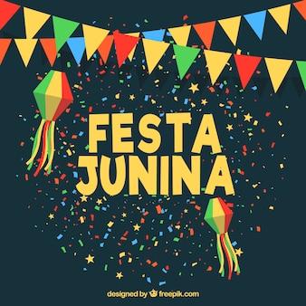 Festive festa junina background