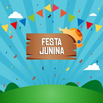 Festive festa junina background