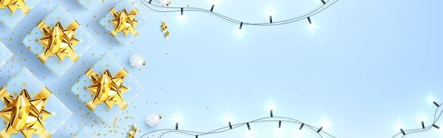 お正月とメリークリスマスのお祝いグリーティングカード。
