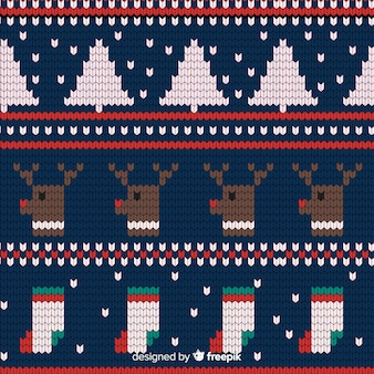 Festive knitted christmas pattern