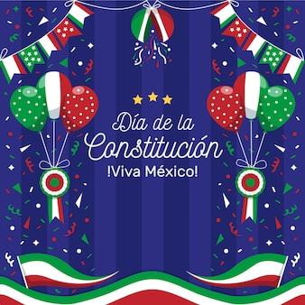 축제 멕시코 헌법의 날 배경