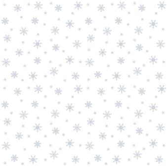 クリスマスと年末年始のお祝いパターン。美しい雪と。ベクトルイラスト