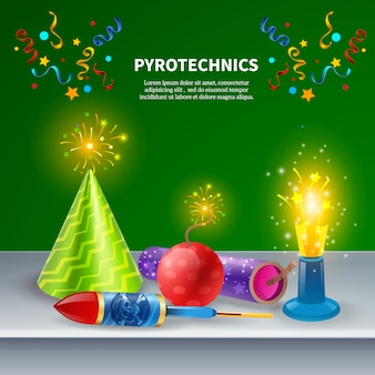 Festive pyrotechnics  composition