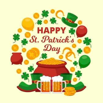 Festive saint patrick's day greeting