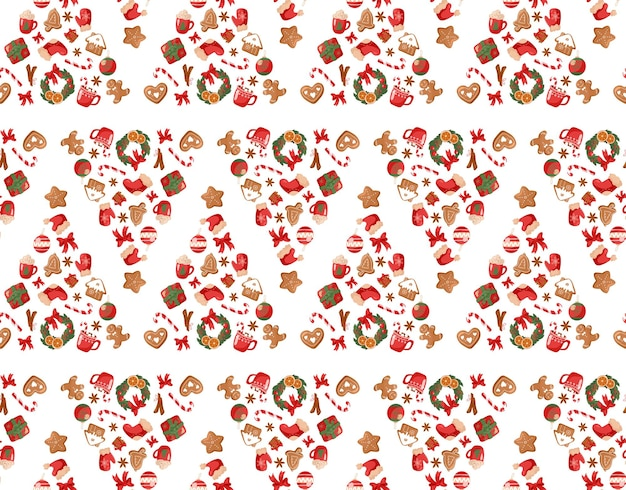 Festive seamless pattern christmas