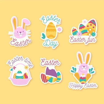 Festive spring easter day badge collection