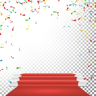 Festive stage podium