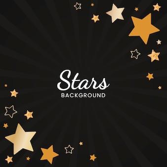 お祝い星の背景デザインのベクトル