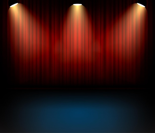 Festive theater curtains backgorund for concert. stage show entartainment  backdrop.