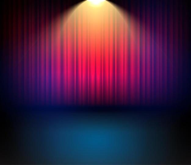 コンサートのためのお祝いの劇場カーテンバックゴーンド。カーテン付きのステージショーのエンターテインメントの背景。