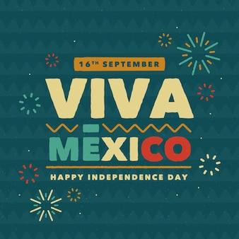 Festive viva mexico lettering