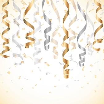 パーティーフラグ、バルーン、紙吹雪、ストリーマーでお祝い