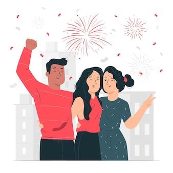Festivities concept illustration