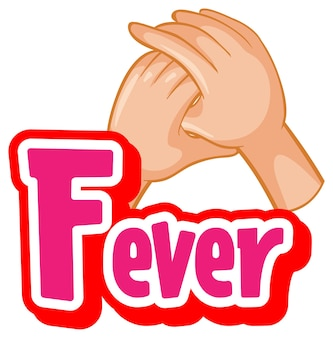 바이러스가 있는 발열 글꼴 디자인은 흰색 배경에 악수를 하여 퍼집니다.