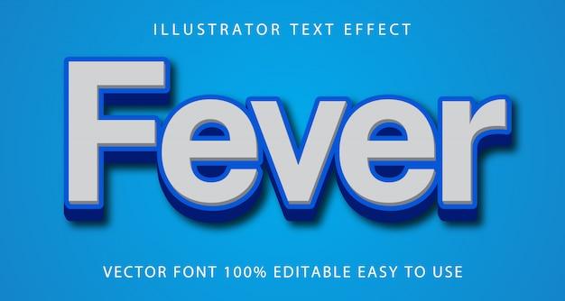 Fever vector editable text effect