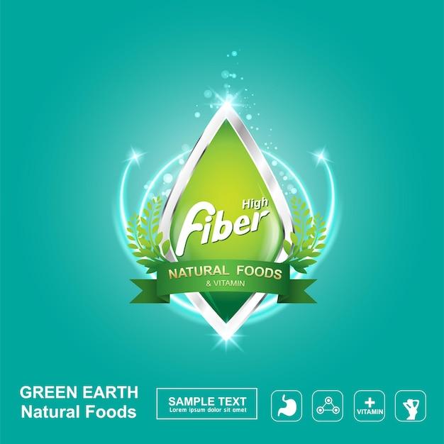 Fiber or vitamin in food logo