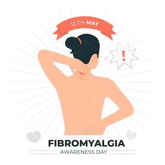 Иллюстрация концепции дня осведомленности о фибромиалгии