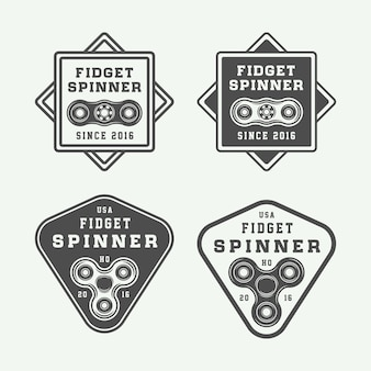 Fidget spinners logo set