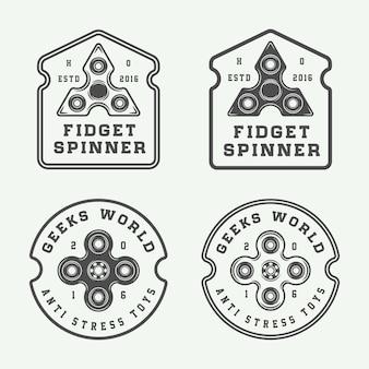 Fidget spinners logos