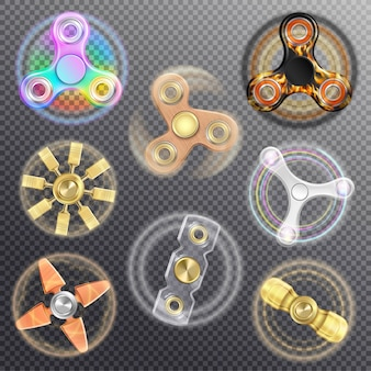 Fidget spinners set