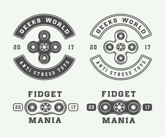 Fidget spinnersロゴ、エンブレム