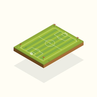 Field football elements isometric.