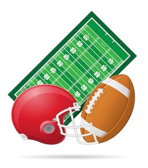 アメリカンフットボールのベクトル図のフィールド