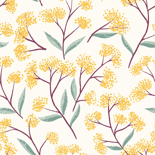 Field foral seamless pattern
