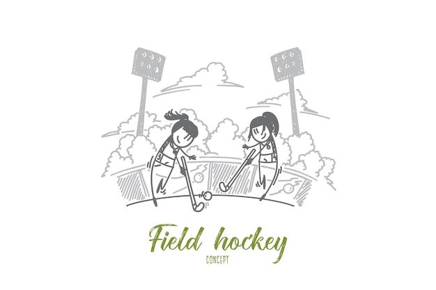 Field hockey concept illustration