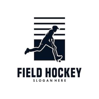 Field hockey vector illustration design template