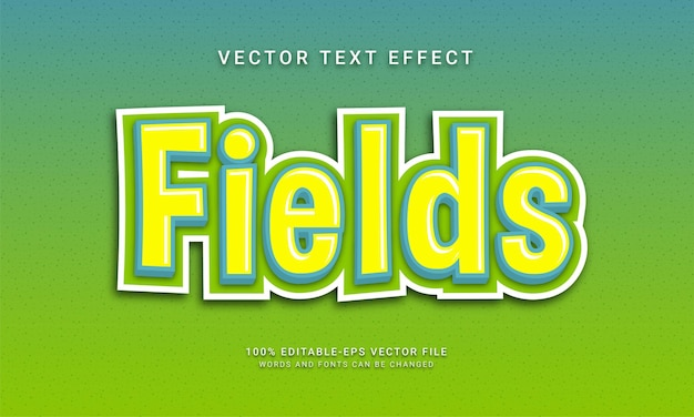 Fields editable text effect with yellow collor