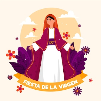 Fiesta de la virgen illustrated