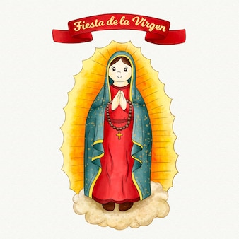 Фиеста де ла девственница акварель