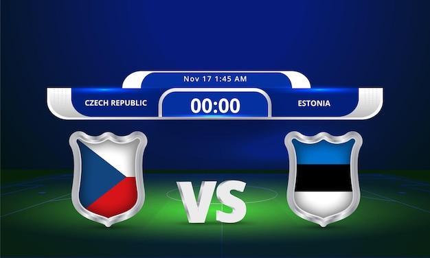 Fifa world cup 2022 czech republic vs estonia football match scoreboard broadcast