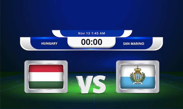 2022년 fifa 월드컵 헝가리 vs 산마리노 축구 경기 스코어보드 중계