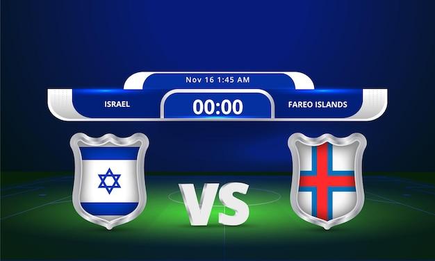 Fifa world cup 2022 israle vs faroe islands football match scoreboard broadcast