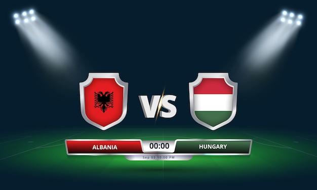 Fifa 월드컵 2022 예선 알바니아 vs 헝가리 축구 경기
