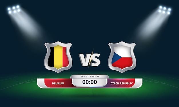 Fifa world cup qualifier 2022 belgium vs czech republic football match
