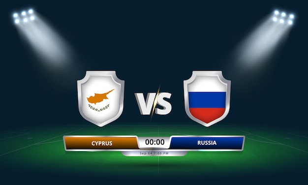 Fifa world cup qualifier 2022 cyprus vs russia football match