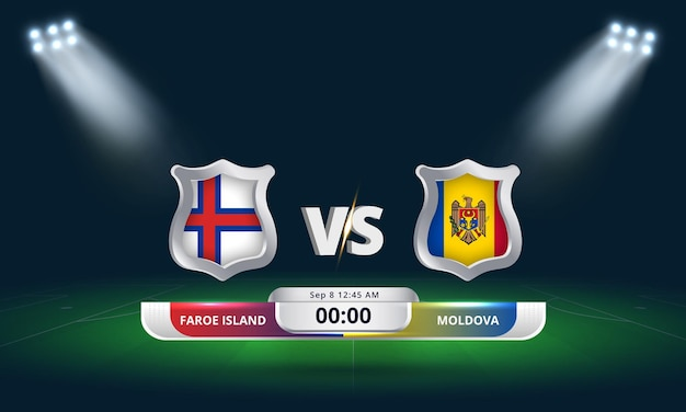 Fifa world cup qualifier 2022 faroe island vs moldova football match