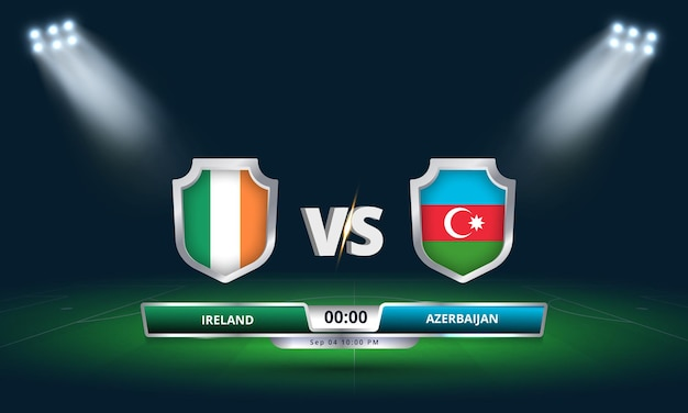 Fifa world cup qualifier 2022 ireland vs azerbaijan football match