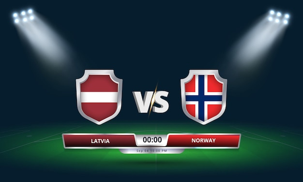 Fifa world cup qualifier 2022 latvia vs norway football match