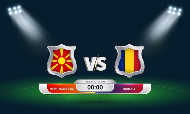 Fifa world cup qualifier 2022 north macedonia vs romania football match