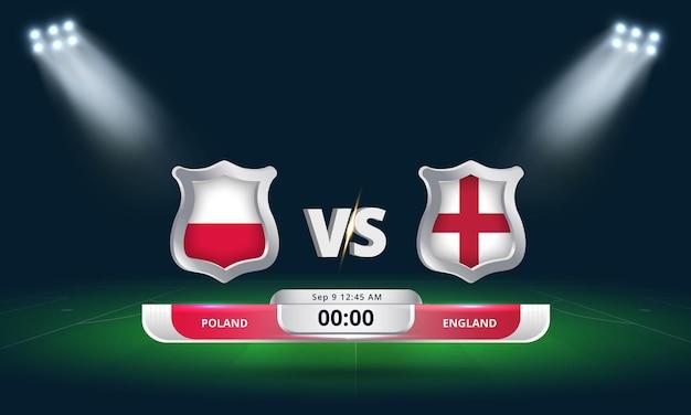 Fifa world cup qualifier 2022 poland vs england football match