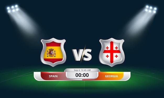 Fifa world cup qualifier 2022 spain vs georgia football match