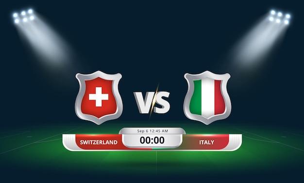 Fifa world cup qualifier 2022 switzerland vs italy football match