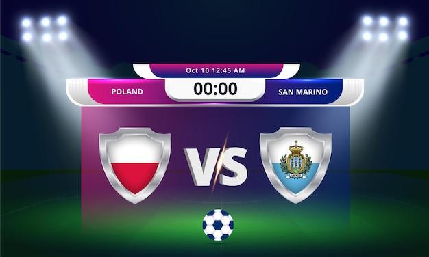 2022년 fifa 월드컵 예선 폴란드 vs 산마리노 축구 경기