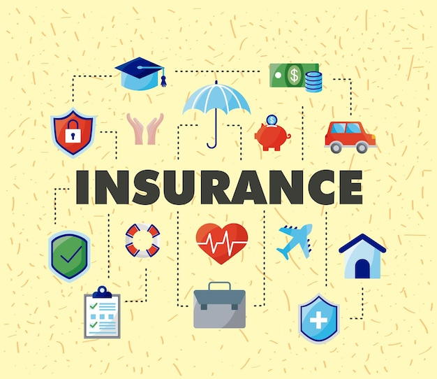 Fifteen insurance service icons