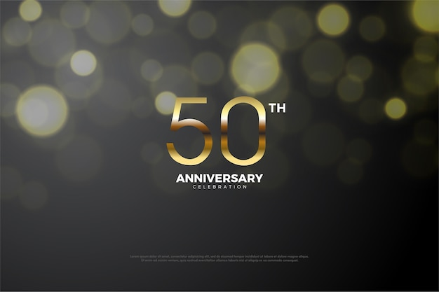 Fiftieth anniversary with a blend of dark and gold numbers
